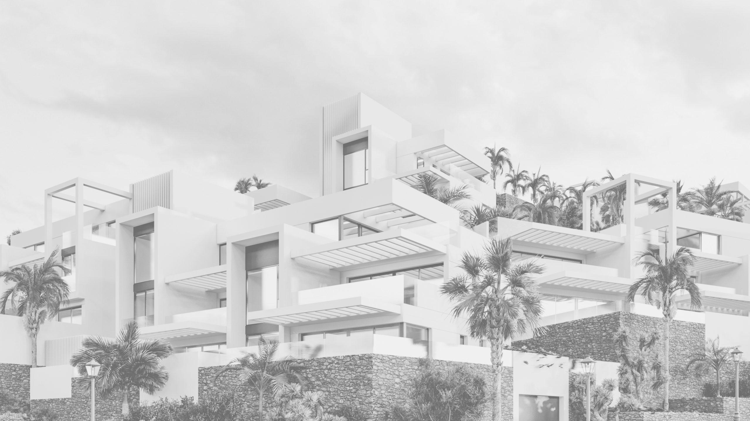 38 viviendas nerja blanco y negro